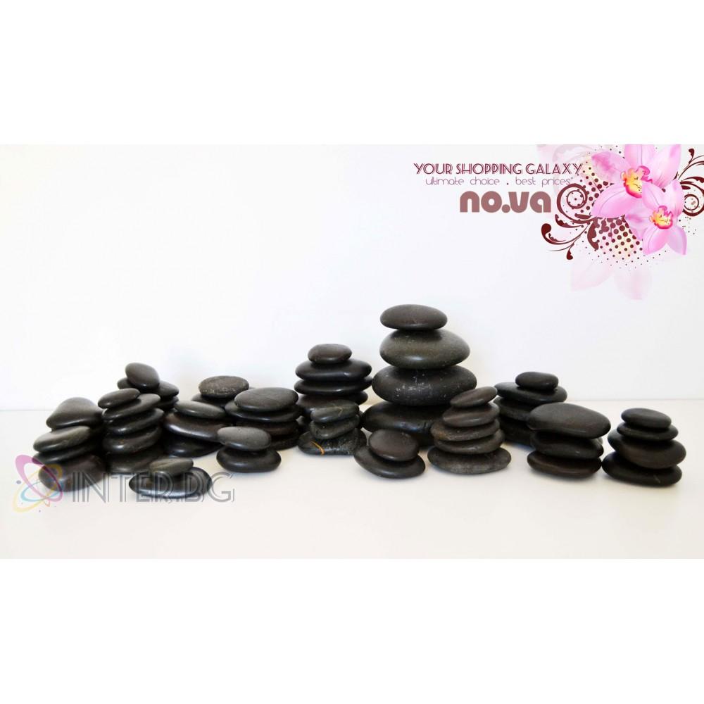 Комплект Масажи Вулканични Камъни от базалт – 60 бр.