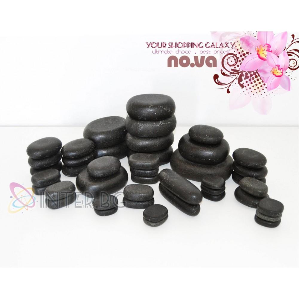 Комплект Базалтови Вулканични камъни за масаж – 45 бр
